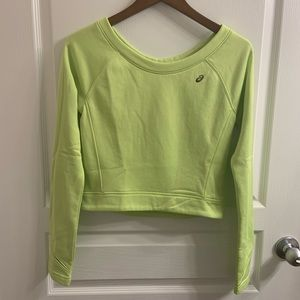 Asics lime green workout top